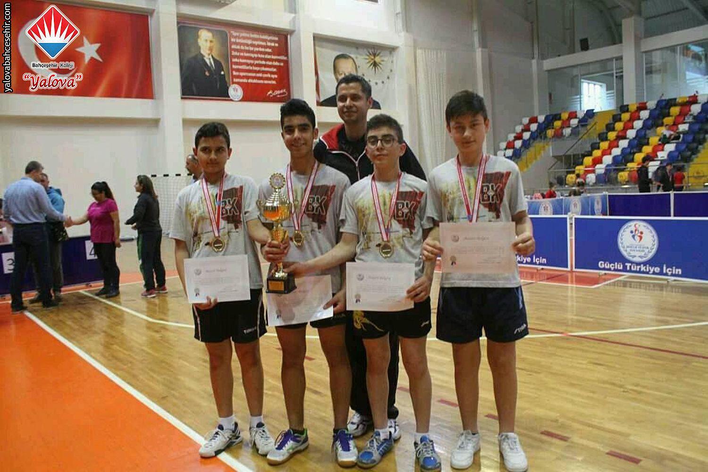2018 Türkiye Şampiyonu Yalova Bahçeşehir Koleji