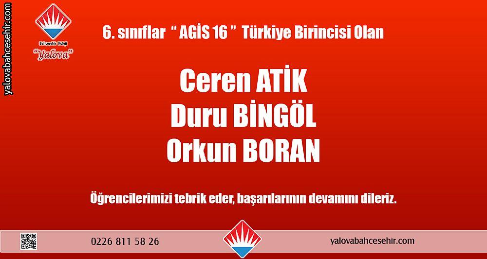2018 - 2019 Eğitim Öğretim Yılı Türkiye Dereceleri