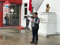 Ortaokul Öğrenci Temsilcisi Murathan SÖZEN teşekkür konuşmasını yaptı.