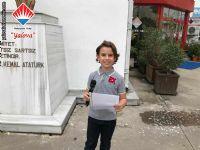 İlkokul Öğrenci Temsilcisi Efe TUTUK teşekkür konuşmasını yaptı.