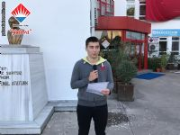 Lise Öğrenci Temsilcisi Erdem BÜLBÜL teşekkür konuşmasını yaptı.