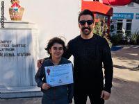 16 - 17 Mart 2019 tarihinde Edirne 'de yapılan  Anadolu Yıldızlar Ligi  Marmara Grup Yüzme Müsabakalarında 13 yaş erkekler kategorisinde ilimizi temsil eden öğrencimiz