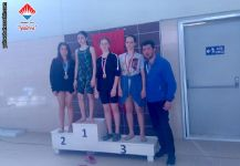 İl yüzme müsabakalarında Yıldızlar takım yarışmasında 4200 m serbest bayrakta İl Birincisi olarak Altın madalya alan takımımız